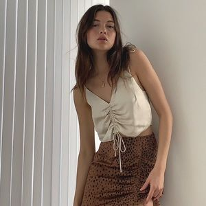 NWT Wilfred Cream Verso Ruched Camisole Size XS